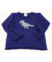 Dinosaur Blue Sweater