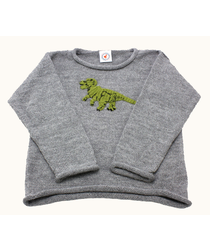 Dinosaur Grey Sweater