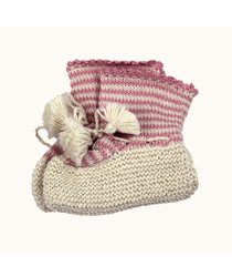 Baby Bootie Pink Stripe